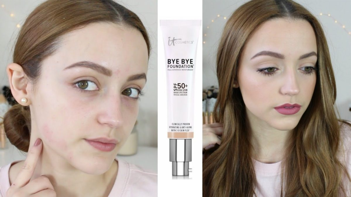 Bye Bye Foundation before after picture