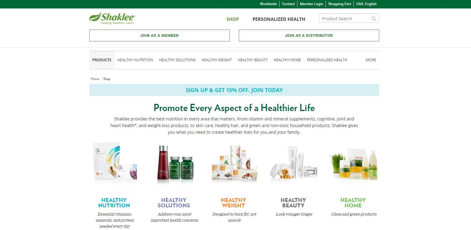 Shaklee Official Website