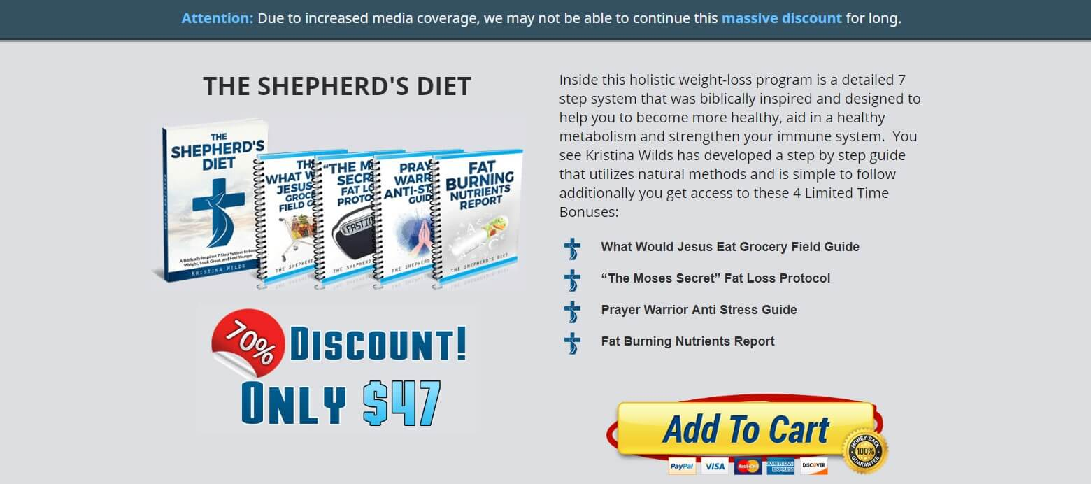 The Shepherd's Diet Official Website