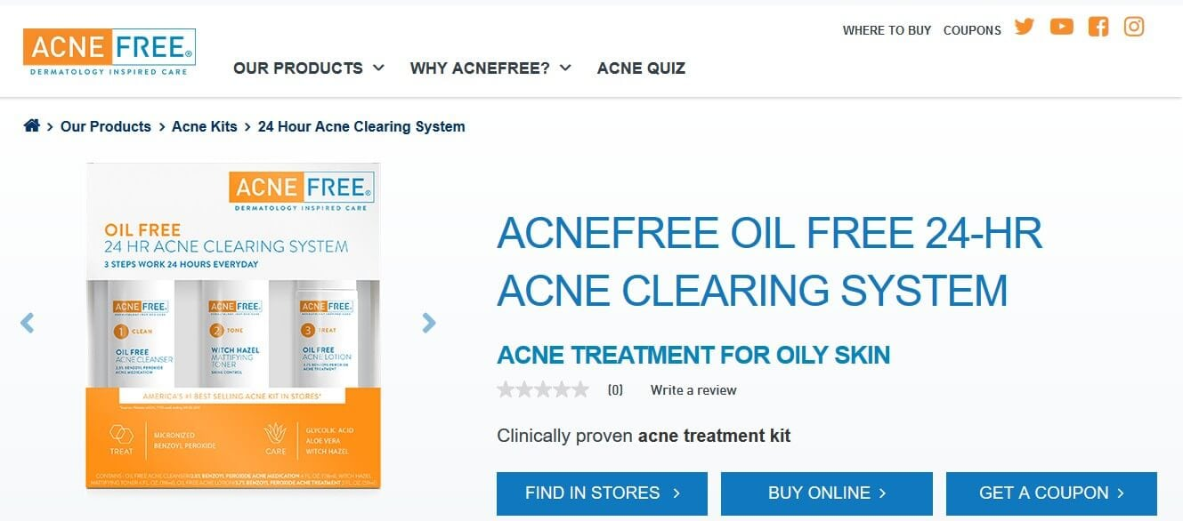 AcneFree official website