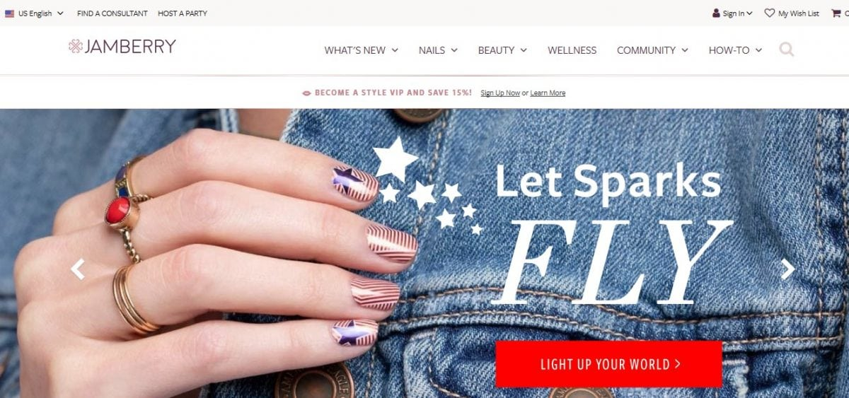 Jamberry Nails official website